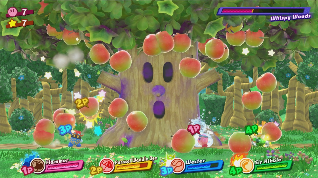 Kirby Star Allies Whispy Woods Fight