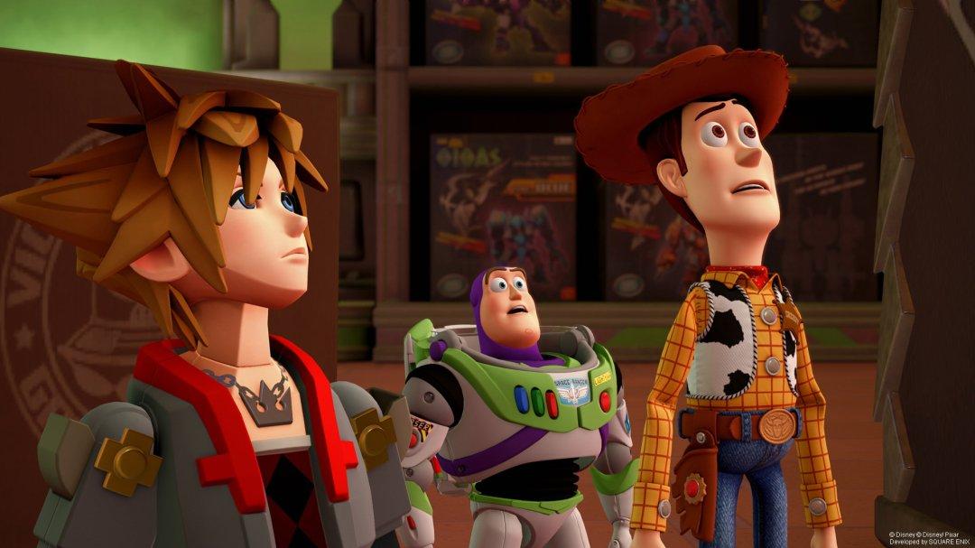 Kingdom Hearts 3 Toy Box Woody and Buzz