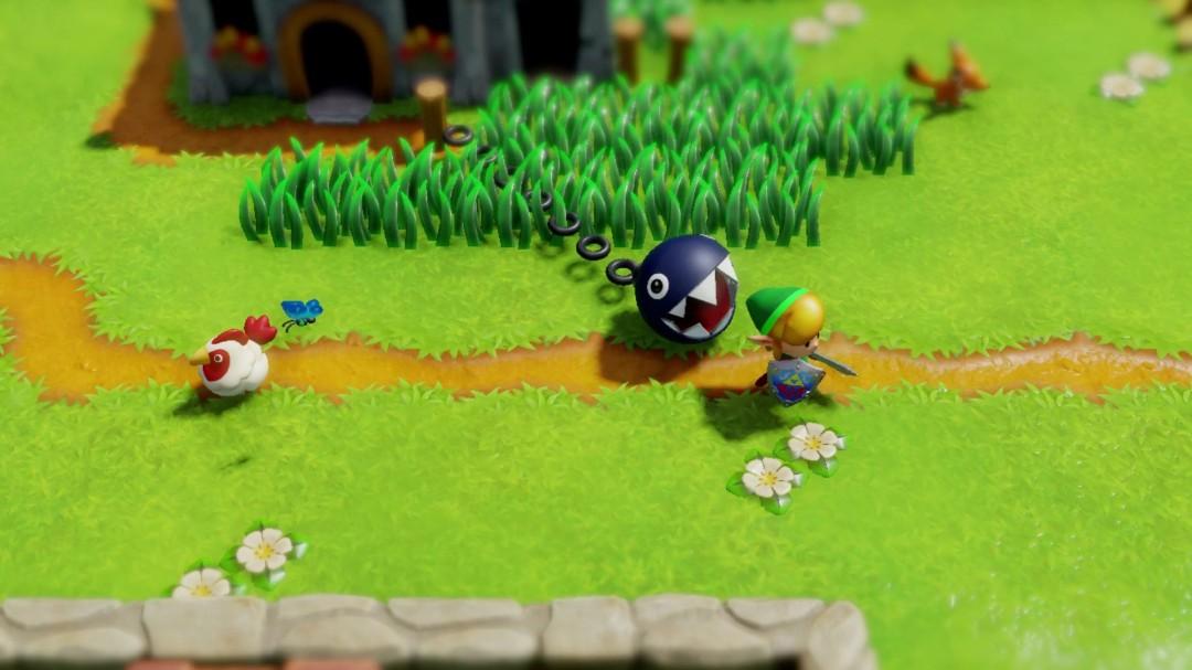Link's Awakening Remake Chain Chomp Chases Link