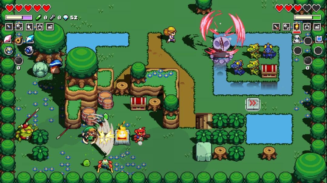 Cadence of Hyrule Link and Zelda coop